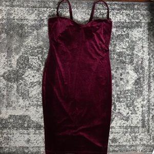 Boohoo Velvet Mini Dress